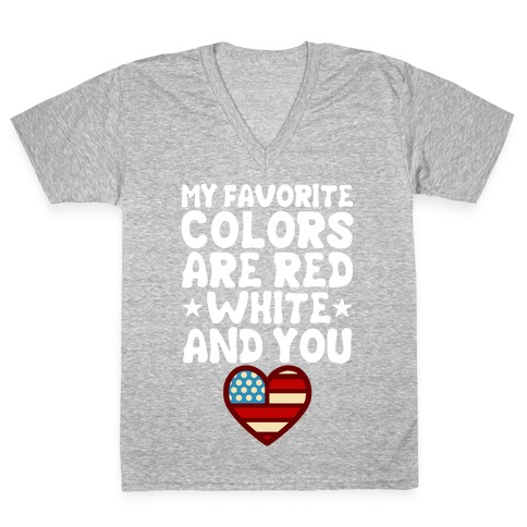 Red, White, And You (Patriotic Tank) V-Neck Tee Shirt