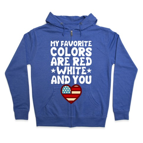 Red, White, And You (Patriotic Tank) Zip Hoodie