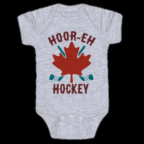 Hoor-Eh Hockey Baby Onesy