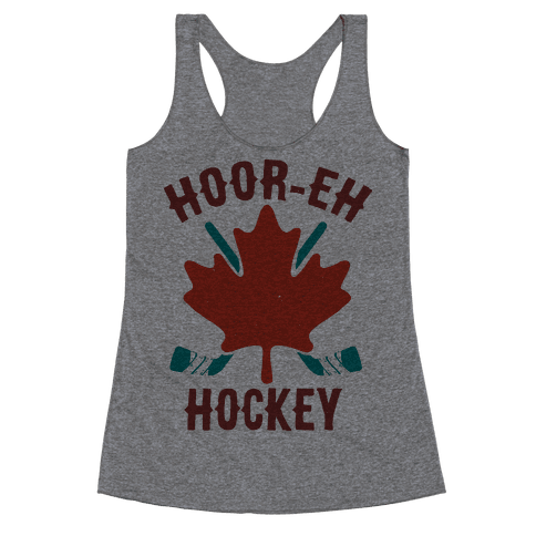 Hoor-Eh Hockey Racerback Tank Top