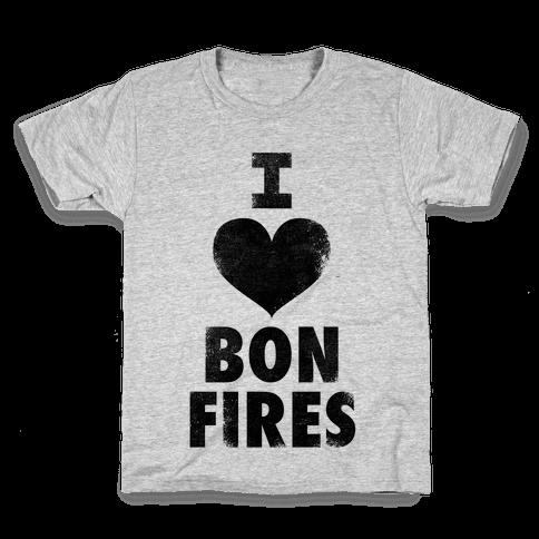 I Heart Bonfires Kids T-Shirt