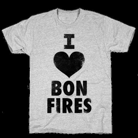 I Heart Bonfires Mens T-Shirt