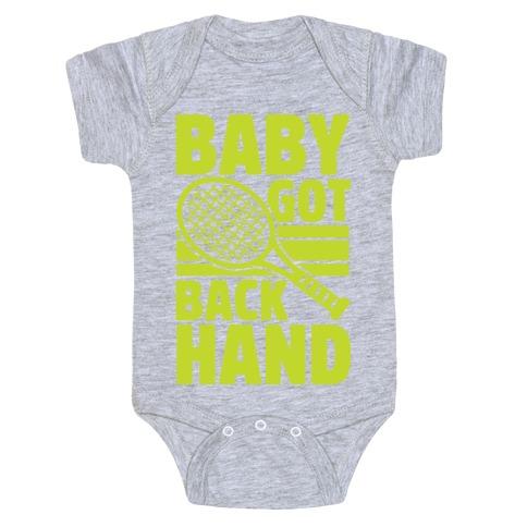 Baby Got Backhand Baby Onesy
