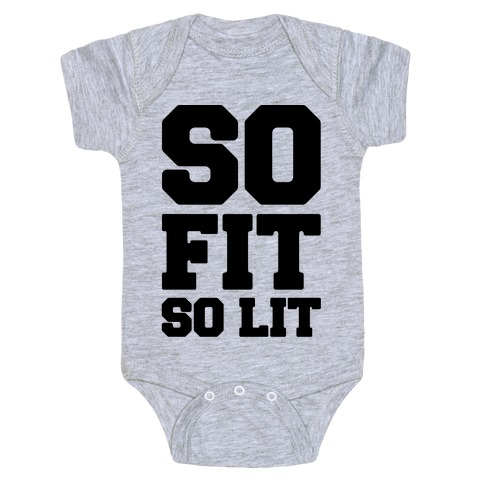 So Fit So Lit Baby Onesy