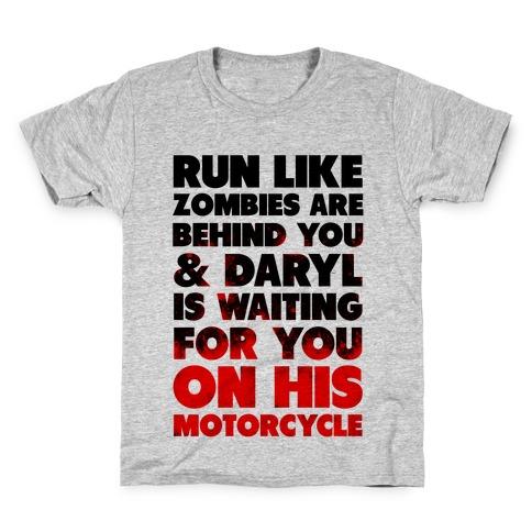 Run Like Daryl is Waiting Kids T-Shirt