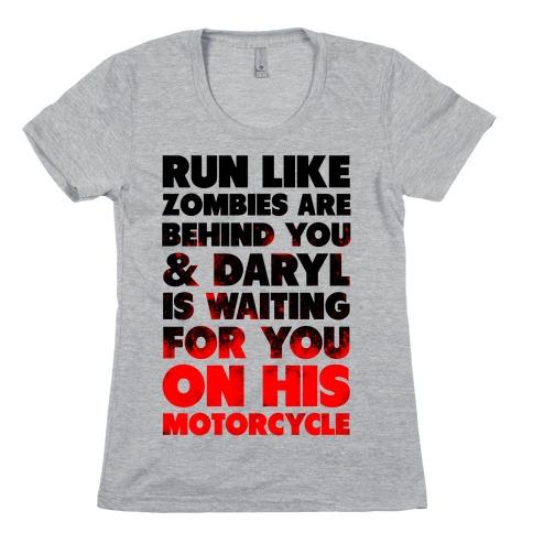 Run Like Daryl is Waiting Womens T-Shirt