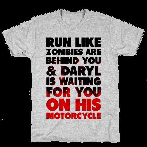 Run Like Daryl is Waiting Mens T-Shirt