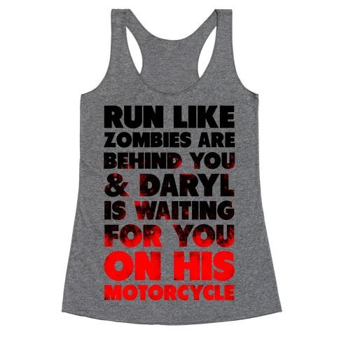Run Like Daryl is Waiting Racerback Tank Top