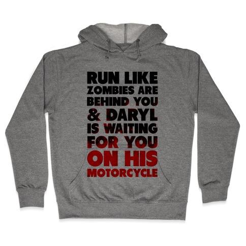 Run Like Daryl is Waiting Hooded Sweatshirt