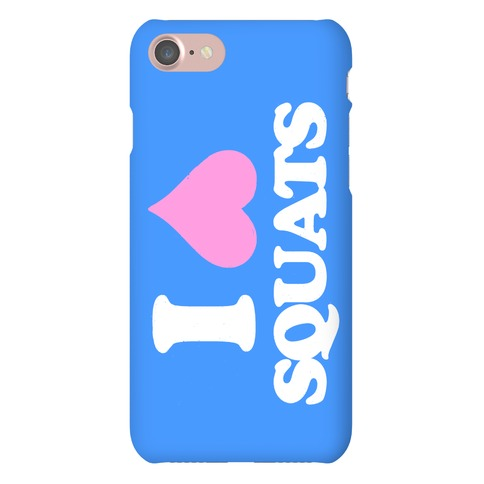 I (Heart) Squats, Love Weightlifting Phone Case