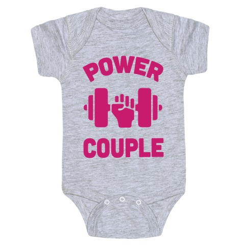 Power Couple Baby Onesy