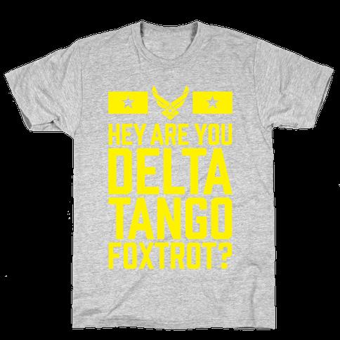 Delta Tango Foxtrot (Air Force) Mens T-Shirt