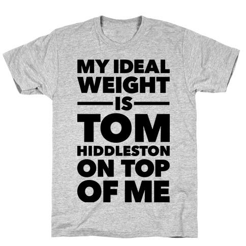Ideal Weight (Tom Hiddleston) Mens T-Shirt