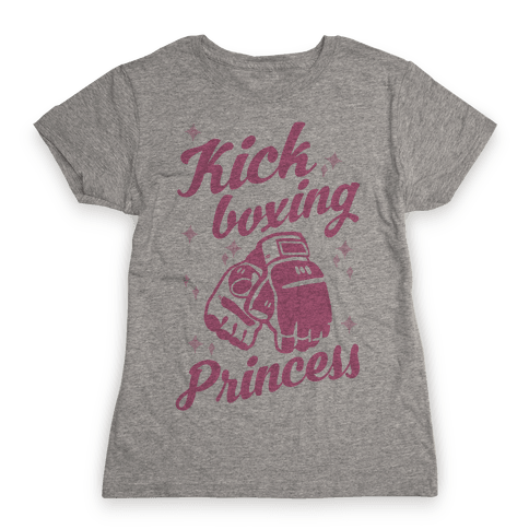 Kickboxing Princess Womens T-Shirt