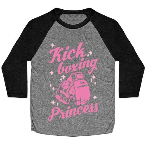 Kickboxing Princess Baseball Tee