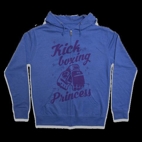 Kickboxing Princess Zip Hoodie