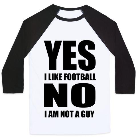 Girls Like Football Too Baseball Tee