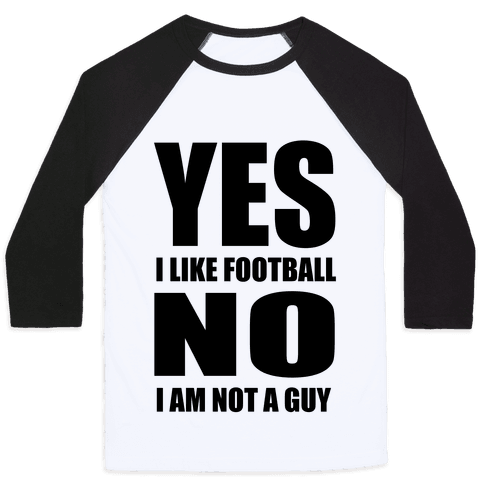 Girls Like Football Too Baseball Tee