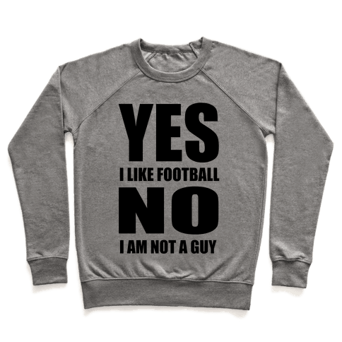 Girls Like Football Too Pullover