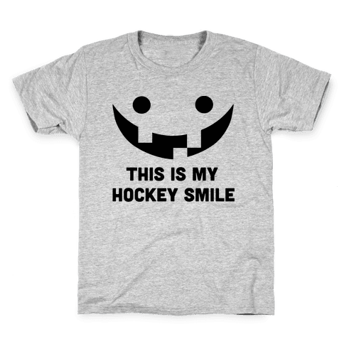This is My Hockey Smile Kids T-Shirt