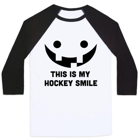 This is My Hockey Smile Baseball Tee
