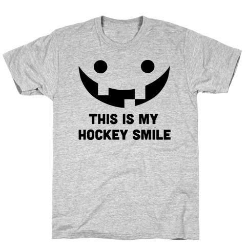 This is My Hockey Smile Mens/Unisex T-Shirt