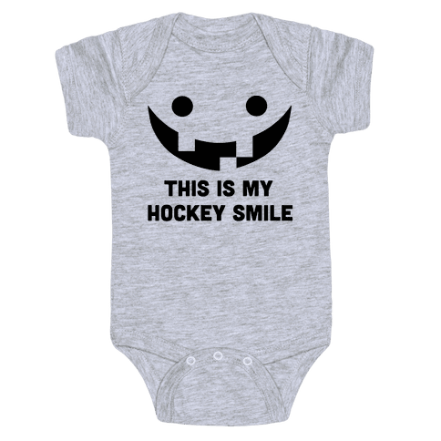 This is My Hockey Smile Baby Onesy