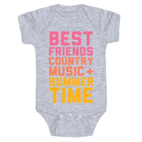 Best Friends, Country Music, Summer Time Baby Onesy