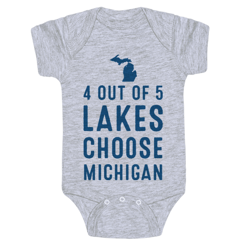 4 Out of 5 Lakes Choose Michigan Baby Onesy