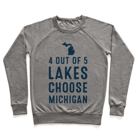 4 Out of 5 Lakes Choose Michigan Pullover