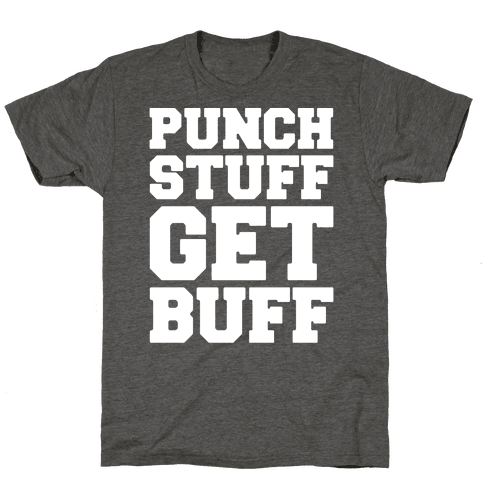 Punch Stuff Get Buff White Print