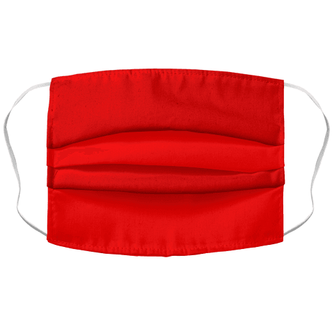 Red Accordion Face Mask