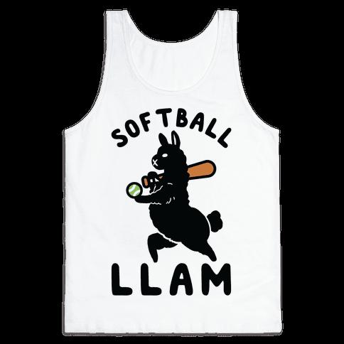 Softball Llam Tank Top