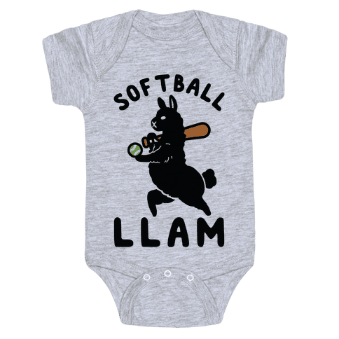 Softball Llam Baby Onesy