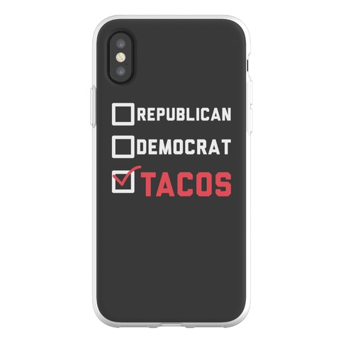 Republican Democrat Tacos Phone Flexi-Case