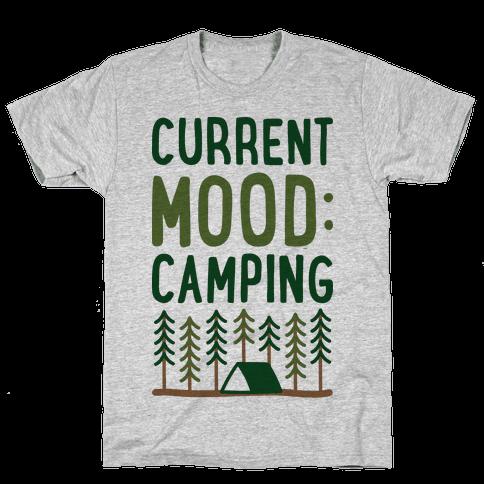 Current Mood: Camping (CMYK) Mens T-Shirt