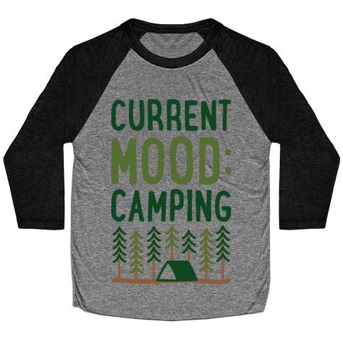 Current Mood: Camping (CMYK) Baseball Tee