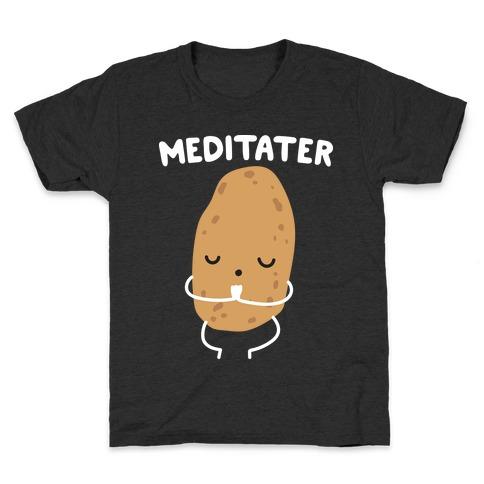 Meditater Meditating Potato Kids T-Shirt