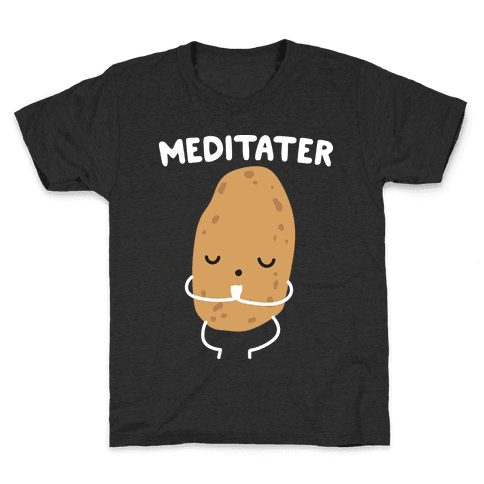 Meditater Meditating Potato Kids T-Shirt
