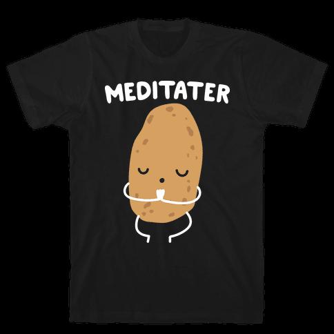 Meditater Meditating Potato Mens/Unisex T-Shirt