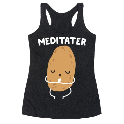 Meditater Meditating Potato Racerback Tank Top