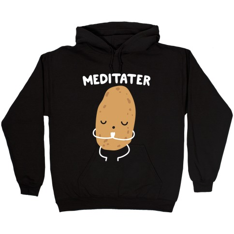 Meditater Meditating Potato Hooded Sweatshirt