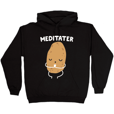 Meditater Meditating Potato Hooded Sweatshirt