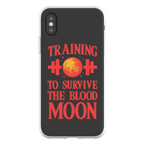 Training to Survive the Blood Moon Phone Flexi-Case