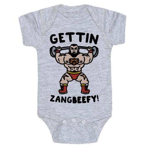 Gettin Zangbeefy Parody Baby Onesy
