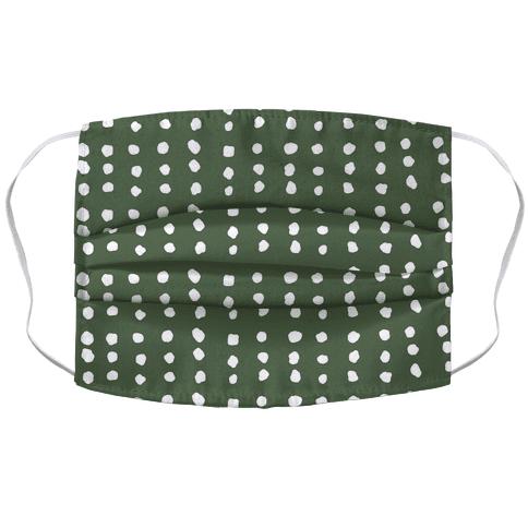 Polka Dot Chive Minimalist Boho Pattern Accordion Face Mask