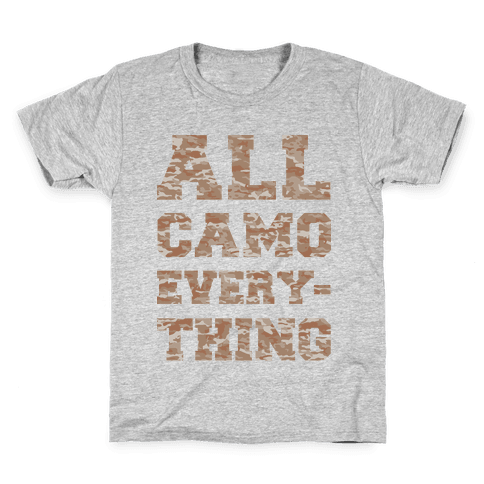All Camo Everything Kids T-Shirt