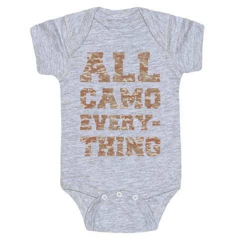 All Camo Everything Baby Onesy