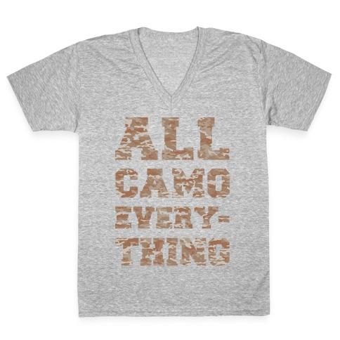 All Camo Everything V-Neck Tee Shirt