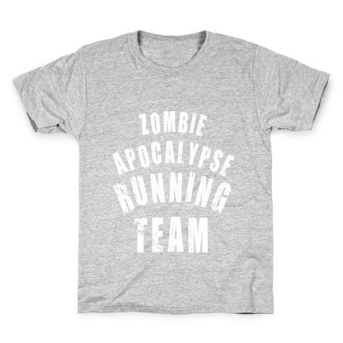 Zombie Apocalypse Running Team (White Ink) Kids T-Shirt